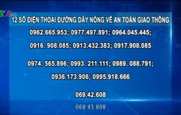 12 số điện thoại nóng xử lý vi phạm giao thông Tết Bính Thân