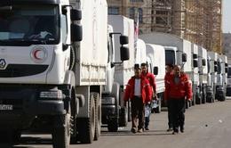 Đoàn xe cứu trợ tiếp cận 5 khu vực bị vây hãm ở Syria