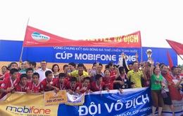 Viettel vô địch Giải bóng đá thiếu niên toàn quốc 2016