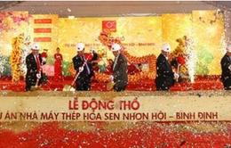 Động thổ Nhà máy thép Hoa Sen Nhơn Hội - Bình Định