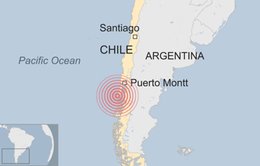 Động đất 7,7 độ Richter ở Chile