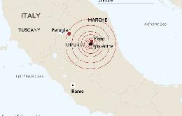 Hai trận động đất mạnh liên tiếp tại Italy