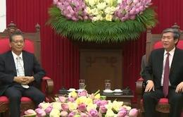 Đồng chí Đinh Thế Huynh tiếp Đại sứ Đặc mệnh toàn quyền Nhật Bản tại Việt Nam