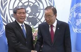 Đồng chí Đinh Thế Huynh hội kiến Tổng thư ký Liên hợp quốc
