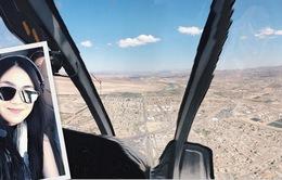 MC Mai Ngọc thưởng ngoạn vẻ đẹp hùng vĩ ở Mỹ từ trực thăng