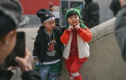 Ngắm vẻ dễ thương của tín đồ thời trang nhí Hàn Quốc