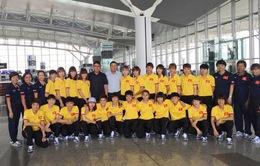 ĐT nữ Việt Nam lên đường đi Myanmar dự giải bóng đá nữ Đông Nam Á 2016