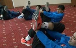 ĐT futsal Việt Nam phục hồi thể lực trước trận gặp ĐT Iran