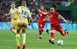 Kết quả bóng đá nữ Olympic Rio 2016 ngày 20/8