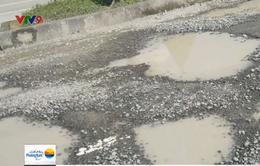 TP.HCM: Đường Rừng Sác xuống cấp gây mất ATGT