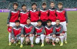 ĐT bóng đá nữ Việt Nam tập luyện cực khổ trong đợt rét kỷ lục ở Trung Quốc