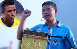 SLNA đề nghị treo còi vĩnh viễn ông Hà Anh Chiến vì quả penalty tưởng tượng