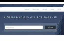 Kiểm tra địa chỉ email bị rò rỉ mật khẩu