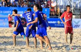 Thua Thái Lan, Việt Nam gặp Lebanon tại tứ kết bóng đá bãi biển ABG5 - 2016