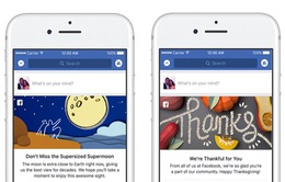 Facebook cập nhật tính năng mới giống Google Doodle