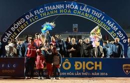 Chủ nhà Thanh Hóa đăng quang ngôi vô địch FLC Cup 2016