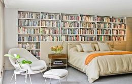 Biến phòng ngủ thành không gian cho người mê sách