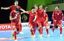 ĐT Futsal Việt Nam đá trận ra quân trong trang phục đỏ truyền thống