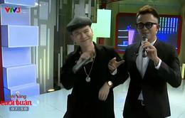 Hoàng Tôn thi hát cùng MC Đức Bảo trong Café sáng với VTV3