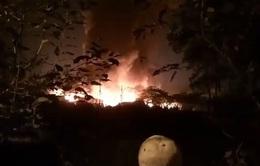 Cháy lớn nhà xưởng tại phường Trung Văn, Hà Nội