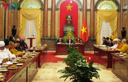 Chủ tịch nước Trần Đại Quang gặp mặt đại diện 17 tổ chức tôn giáo