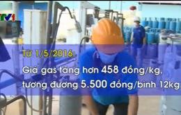 Giá gas bán lẻ tăng 5.500 đồng/bình 12 kg