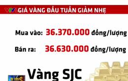 Giá vàng tiếp tục giảm trong phiên đầu tuần
