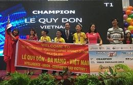 Học sinh Việt Nam vô địch Cuộc thi Robothon quốc tế