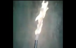 Kỳ lạ luồng khí từ giếng nước khoan có thể bốc cháy