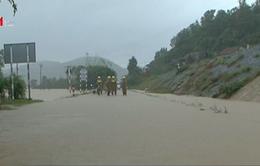 5 đoàn tàu Bắc - Nam bị kẹt ở ga Phú Hiệp (Phú Yên) do mưa lũ