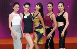 Hà Anh cùng thí sinh Hoa hậu Việt Nam ráo riết tập luyện trước đêm chung kết