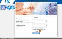 Hà Nội: đăng ký trực tuyến tiêm vaccine Pentaxim vào ngày 17/3