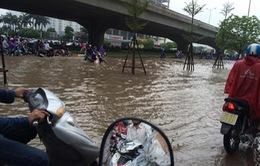 Hàng trăm nhà dân tại Hà Nội bị ngập sâu hơn 1m sau mưa lớn