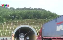 Đường dẫn vào hầm Phú Gia bị hư hại