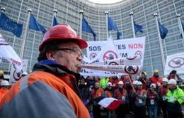 Công nhân châu Âu biểu tình phản đối thép giá rẻ của Trung Quốc