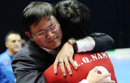 Futsal Việt Nam ăn mừng chiến tích vào World Cup: Vui sao nước mắt lại trào