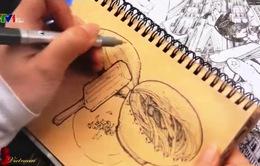 Ngắm Hà Nội qua lăng kính Doodle