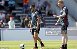 Tin vui cho ĐT Bỉ: Hazard đã trở lại tập luyện