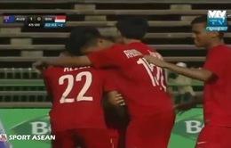 Siêu phẩm từ giữa sân của Beckham tái hiện ở giải U16 Đông Nam Á 2016