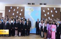 """""""Chim bồ câu vì hòa bình cho Việt Nam"""" tại Ukraine"""