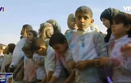Lễ hội màu sắc dành cho những đứa trẻ tị nạn Syria