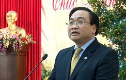 Bí thư thành ủy Hà Nội thăm và chúc Tết công ty môi trường đô thị Hà Nội