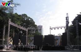 Những sân khấu Countdown 2017 đang được gấp rút chuẩn bị tại Hà Nội