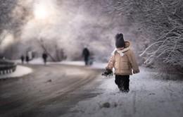 Những khoảnh khắc huyền ảo của trẻ em Ba Lan vào mùa Đông