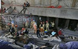 Sập công trình xây dựng tuyến tàu điện ngầm Hàn Quốc, 4 người tử vong
