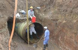 Mất 4 ngày đường ống nước sông Đà mới trở lại bình thường