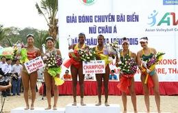 VTV tường thuật trực tiếp Giải bóng chuyền bãi biển nữ châu Á 2016