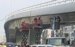 Cầu vượt Ô Đông Mác - Nguyễn Khoái chuẩn bị thông xe