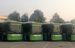 Xe bus nhanh BRT không chạy khớp nối kĩ thuật trên đường phố Hà Nội