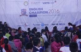 English Champion 2016 khai mạc ở 10 điểm trường ở Hà Nội, TP.HCM và Đà Nẵng